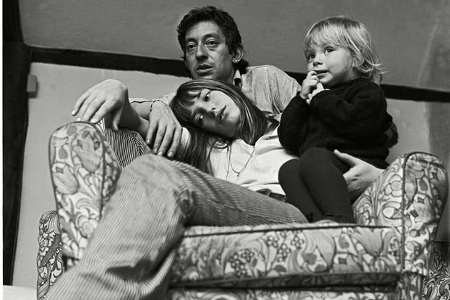Avec Serge Gainbourg et Kate en Angleterre, 1969