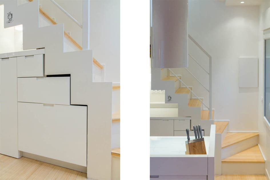 Un nouvel escalier pour accéder à la terrasse