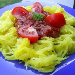 courgette spaghetti à la bolognaise