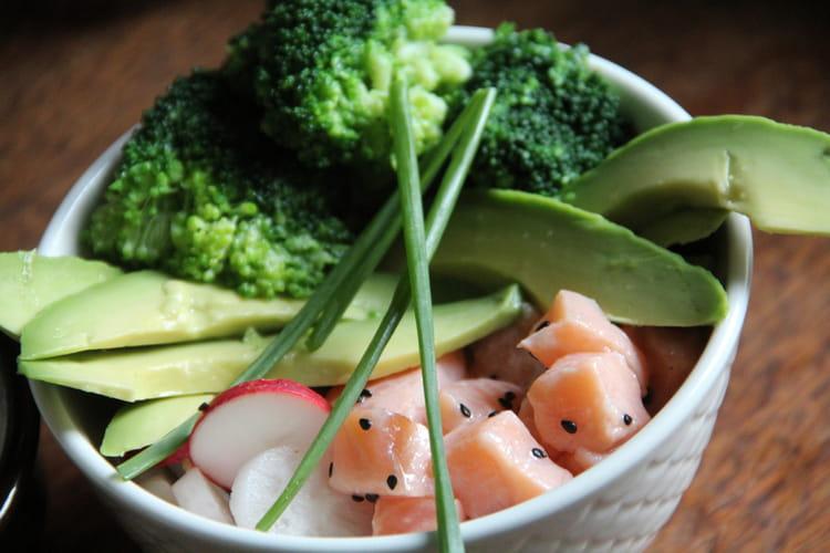 Buddha bowl saumon quinoa