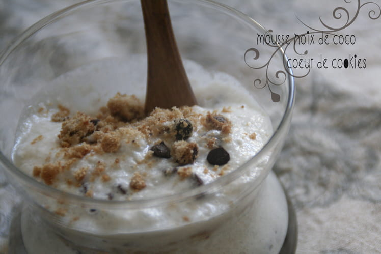 Mousse coco coeur cookie
