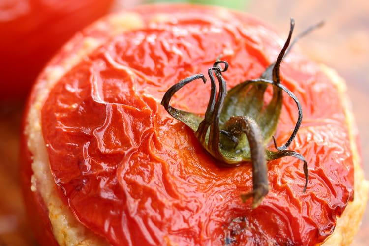 Tomates farcies mozzarella et jambon blanc