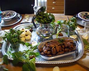 desproduits du maghreb en guise de centre de table