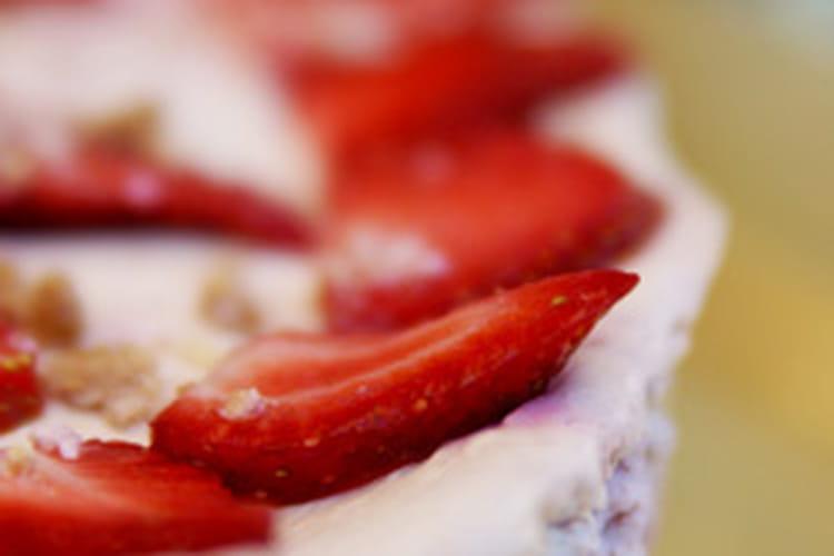 Crumble cheesecake amande, fraise, framboise