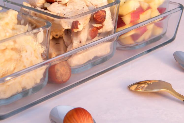 Risotto au cidre, dinde, courgettes et pomme