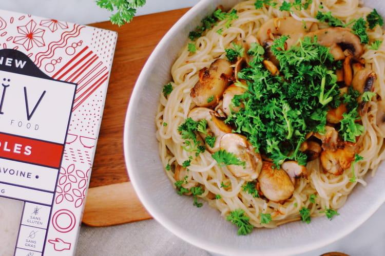 Noodles aux champignons