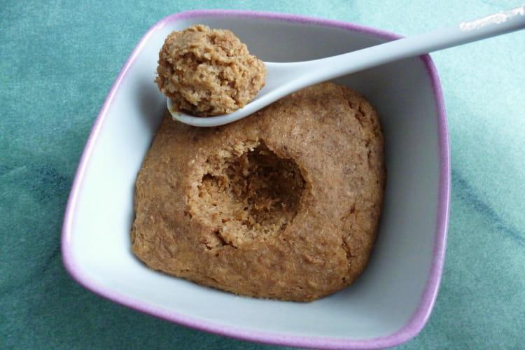 Bowl cake caramel aux flakes de blé complet et au psyllium