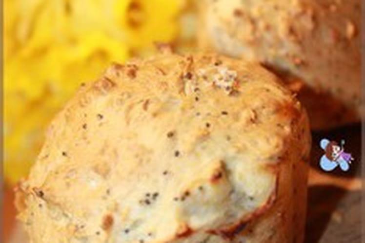 Briochettes aux graines et saumon