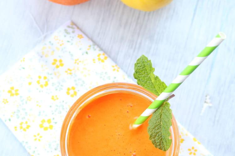 Jus de carottes, oranges et citron