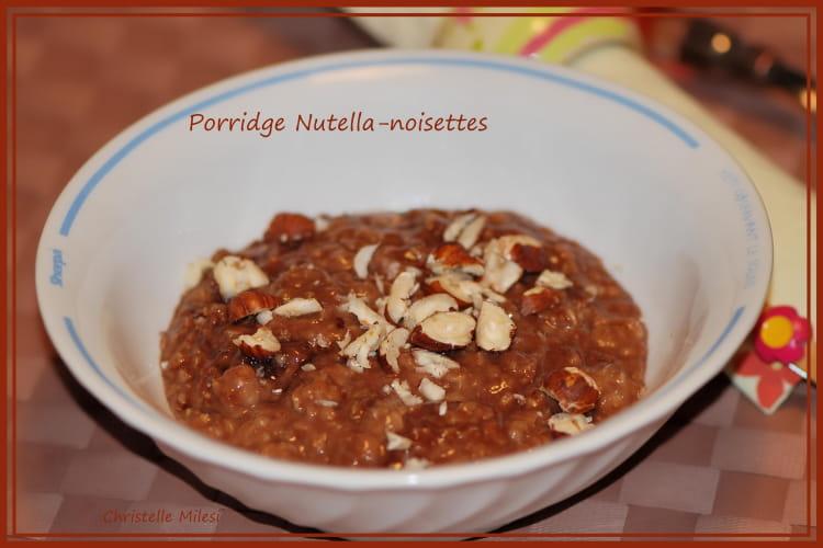 Porridge au nutella