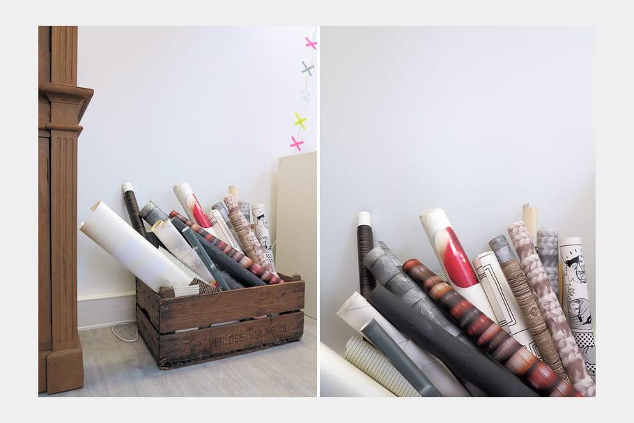 Des chutes de papier peint on a test la formation for Formation decoration d interieur