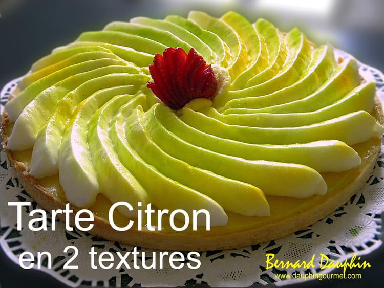 Recette de tarte au citron double texture la recette - Tarte aux citrons meringuee facile ...