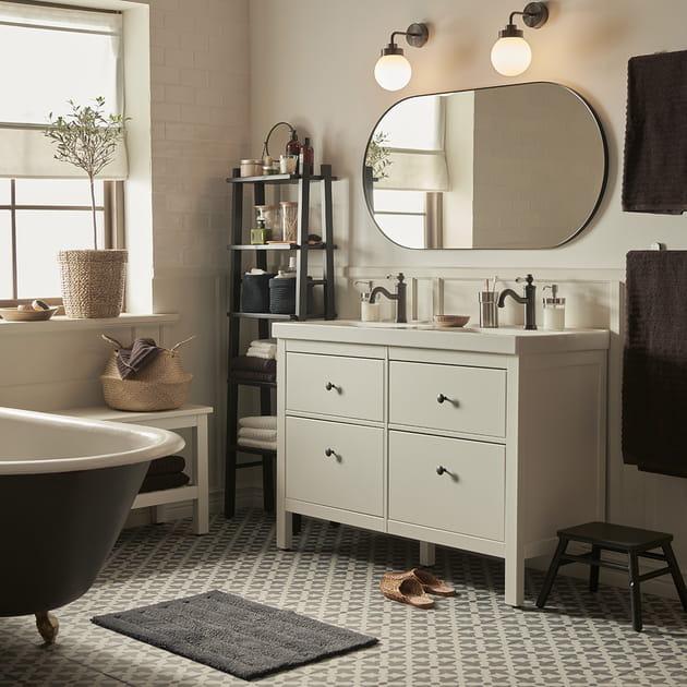 Salle de bains IKEA de charme
