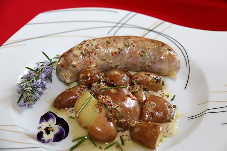 Recette andouillette au vin blanc sauce moutarde l - Cuisiner des andouillettes ...