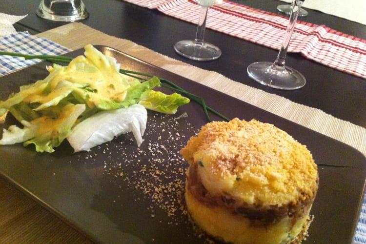 Parmentier de confit de canard au foie gras