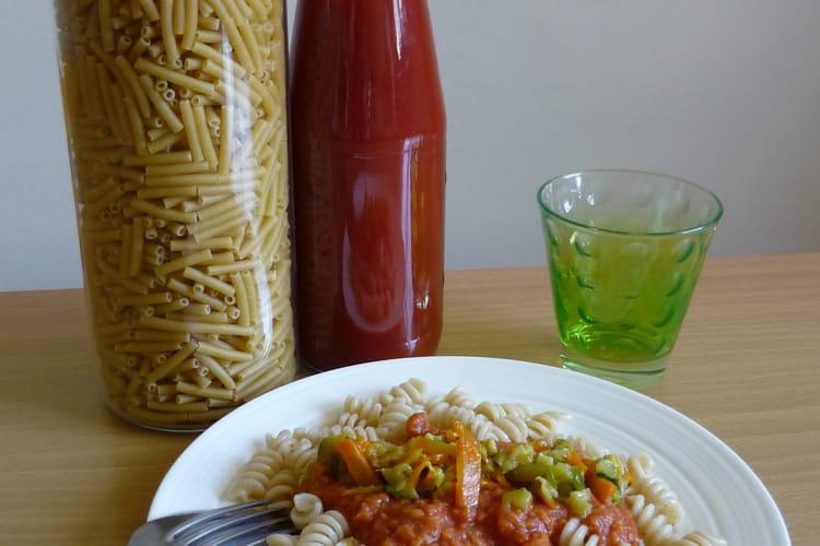 Sauce tomate - corail aux petits légumes (pour pâtes)