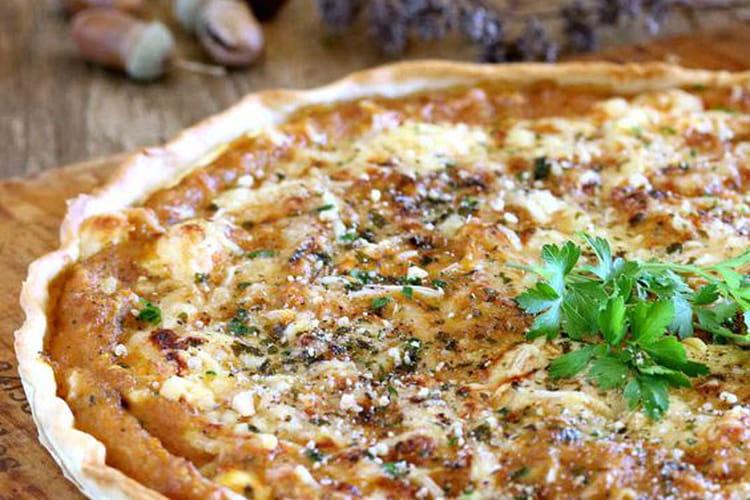 Tarte salée à la courge butternut et au Roquefort