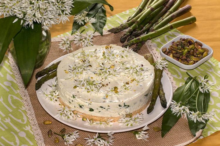 Cheese cake aux asperges et ail des ours (Aspargours)
