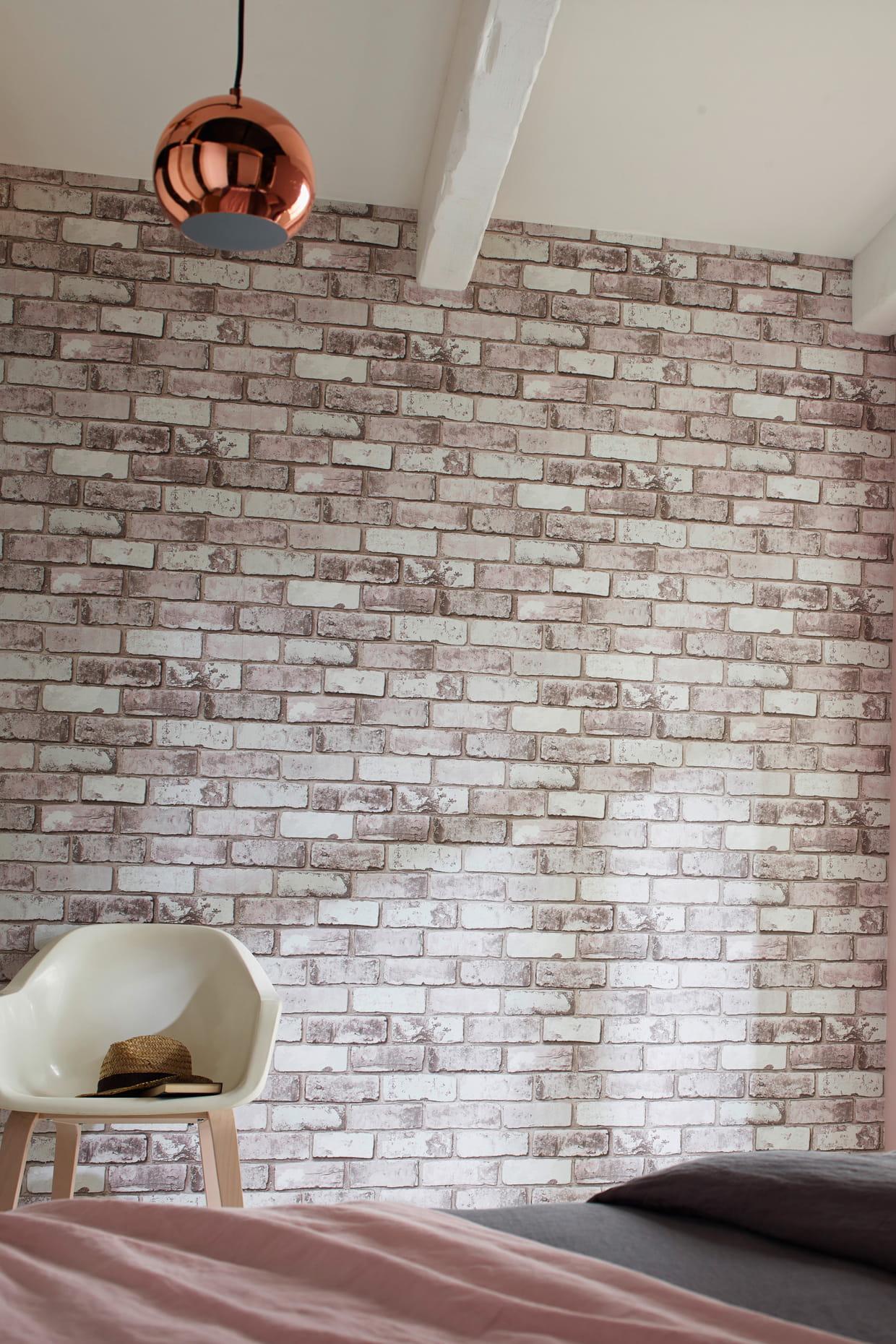Chambre Ado Avec Papier Peint Brique papier peint vinyle arcelot chez castorama