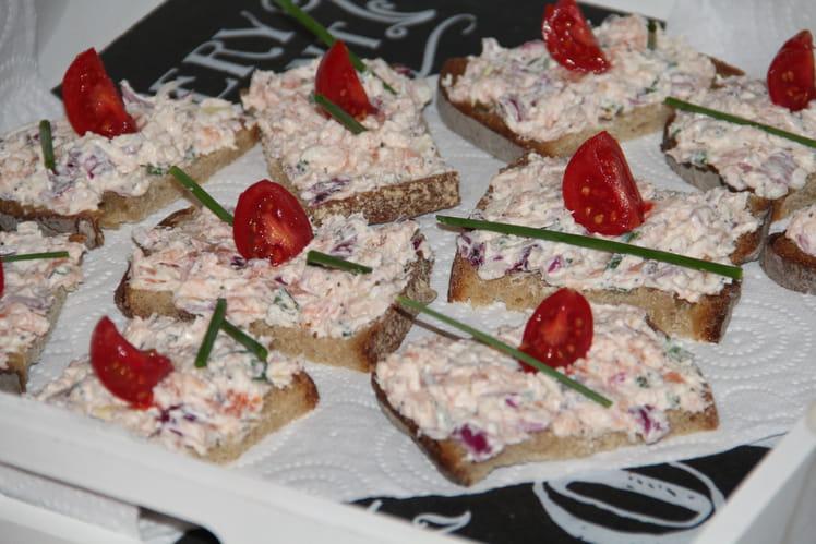 Tartines océanes saumon fumé fromage frais