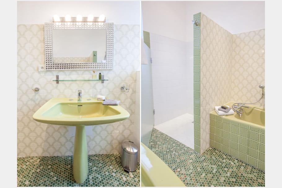 Salle de bains vert d 39 eau for Salle de bain vert d eau