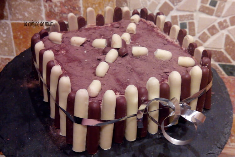Gâteau Trianon au chocolat au lait