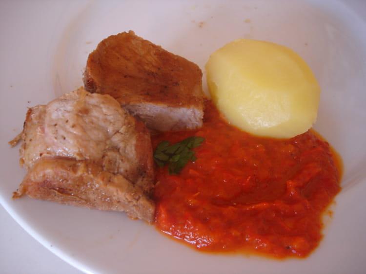 Recette de sauce aux poivrons la recette facile - Cuisiner les poivrons verts ...