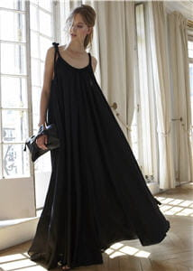 robe longue noire delphine manivet pour la redoute