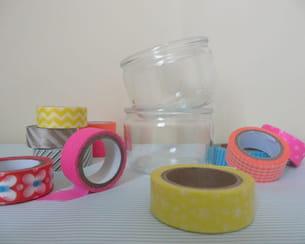 matériel nécessaire pour transformer des pots de yaourt en photophores