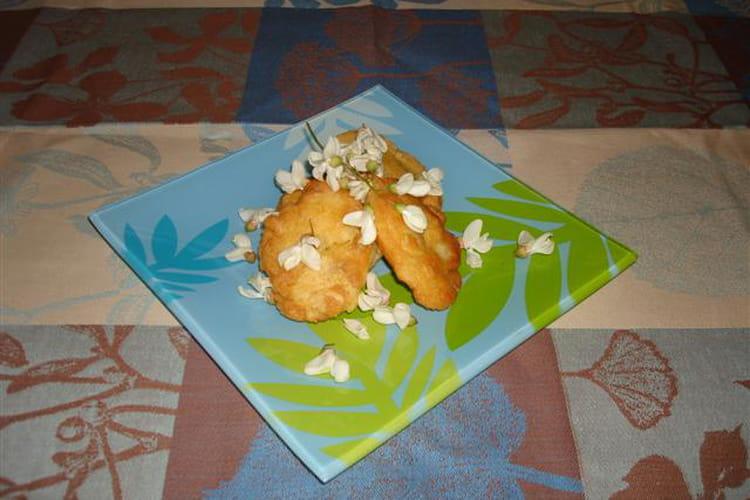 Beignets de fleurs d'acacia et  zestes d'orange