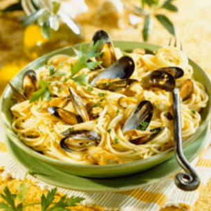 Spaghettis aux moules for Plat unique convivial entre amis