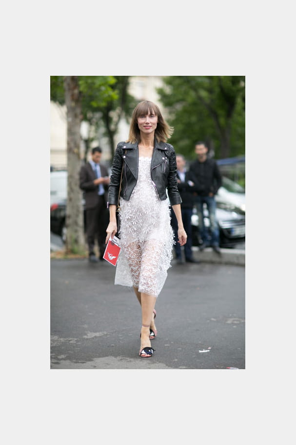 Street looks fashion week haute couture : romantico'rock