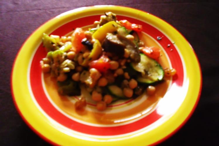 Salade aux saveurs orientales