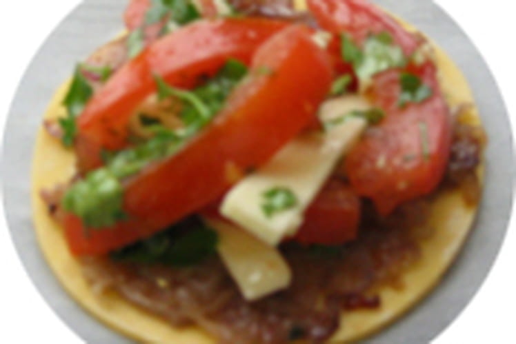 Pissaladière tomate-mozzarella