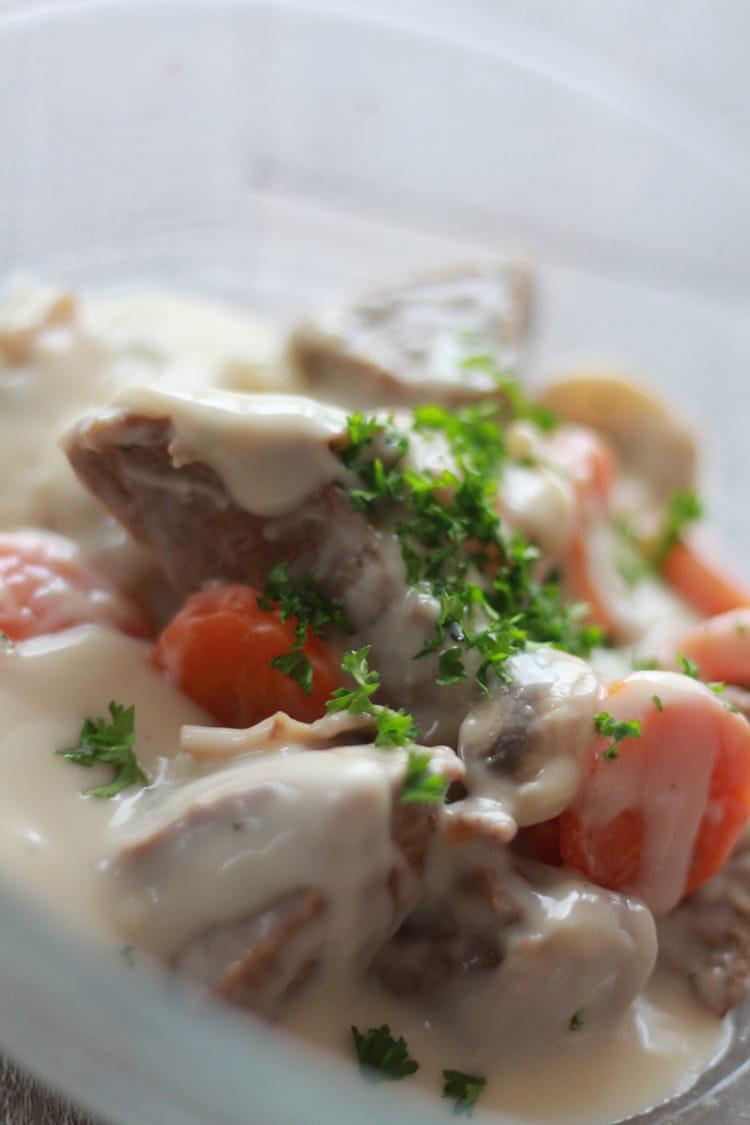 Recette de blanquette de veau recette rapide et l g re - Cuisine blanquette de veau ...