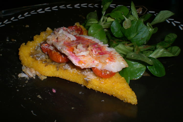Tartelette de polenta et rougets