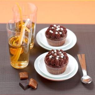 cupcakes chocolat et caramel