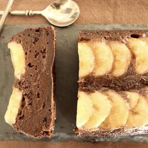 fondant chocolat banane - sans beurre