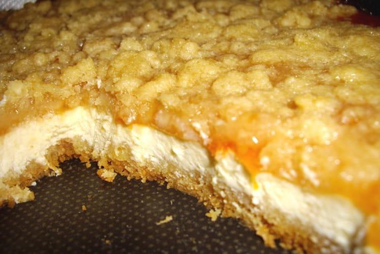 Cheesecake à l'abricot façon crumble