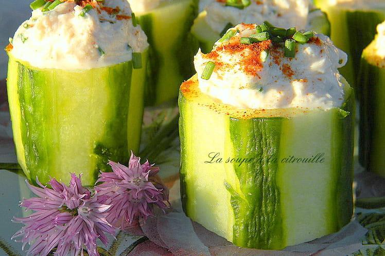 Bouchées de concombre au crabe