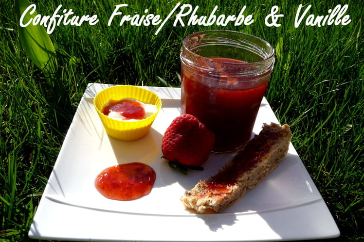 Confiture rhubarbe-fraise et vanille au Cooking Chef