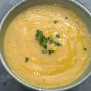 soupe à la carotte parfumée.