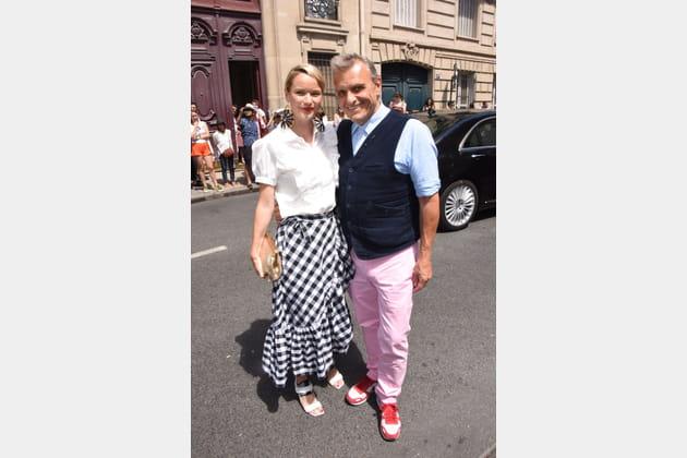 Jean-Charles de Castelbajac et Pauline de Drouas chez Christian Dior