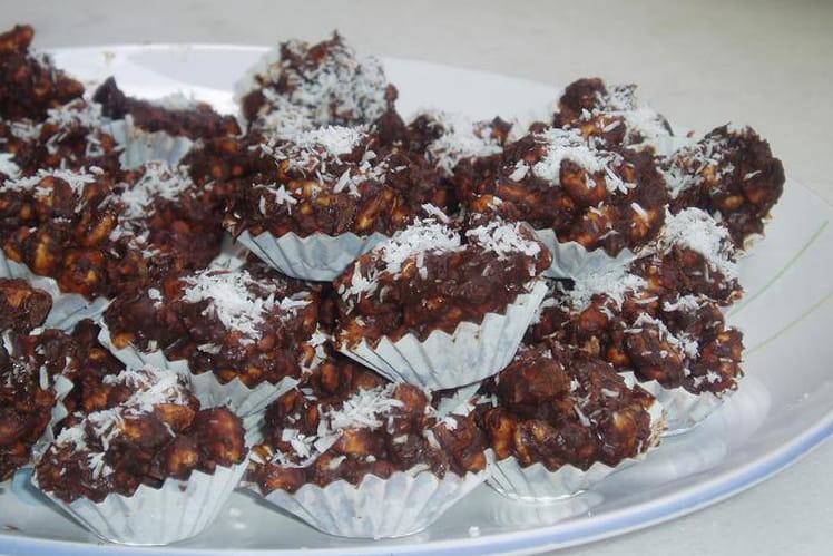 Bouchées au chocolat et noix de coco