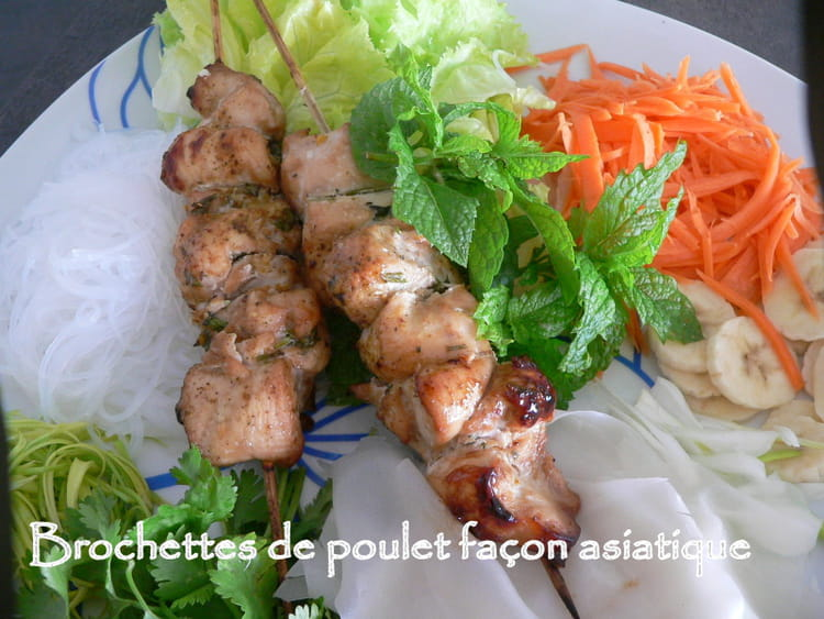 recette de brochettes de poulet fa on asiatique la recette facile. Black Bedroom Furniture Sets. Home Design Ideas