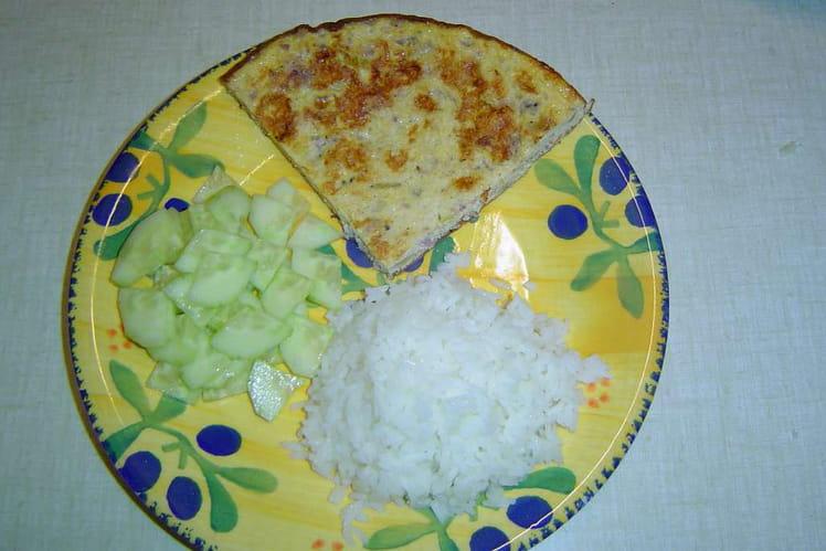 Omelette aux chipolatas et nuoc mam