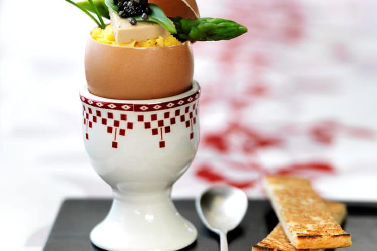 Oeufs brouillés au caviar et foie gras Delpeyrat