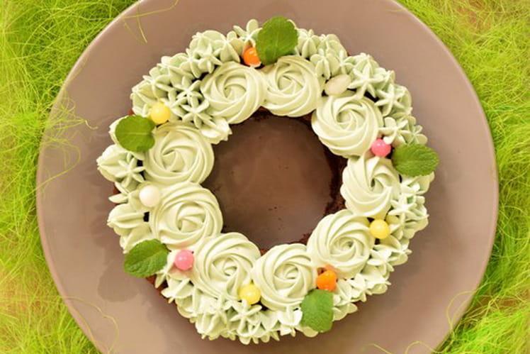 Gâteau de Pâques à la menthe et au chocolat