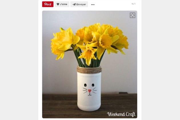 Vase tête de lapin