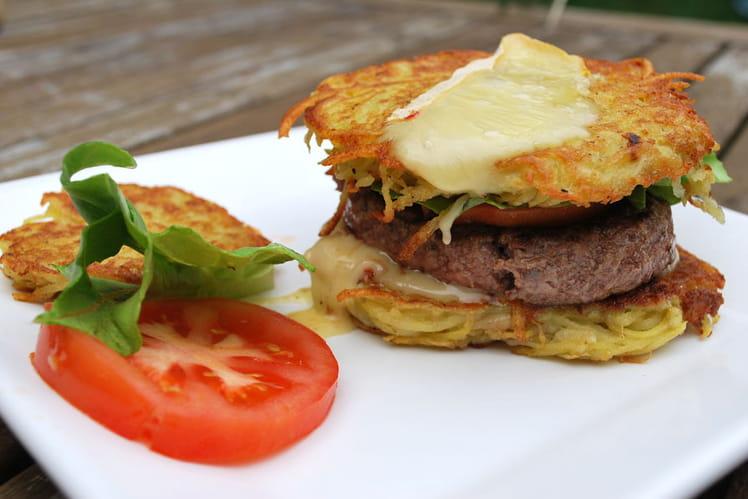 Hamburger aux galettes de pommes de terre